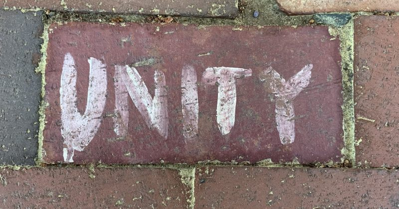 Brick that says unity
